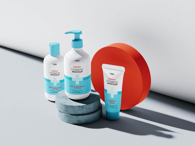 Set of Cosmetics Free Mockups