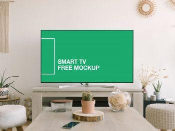 Smart TV Screen Free Mockup