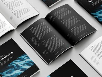 Softcover Book Free Mockup Set