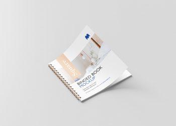 Square Binded Brochure Free Mockup
