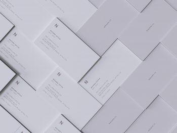 Stacked Business Cards Free Mockup