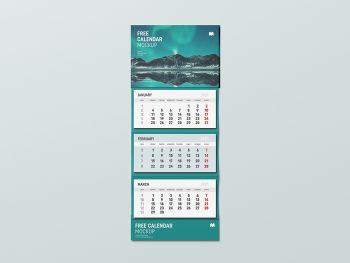 Wall Calendar Free Mockup
