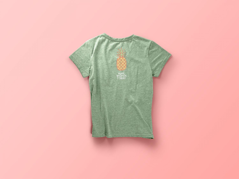 Woman Marl T-Shirt PSD Free Mockup