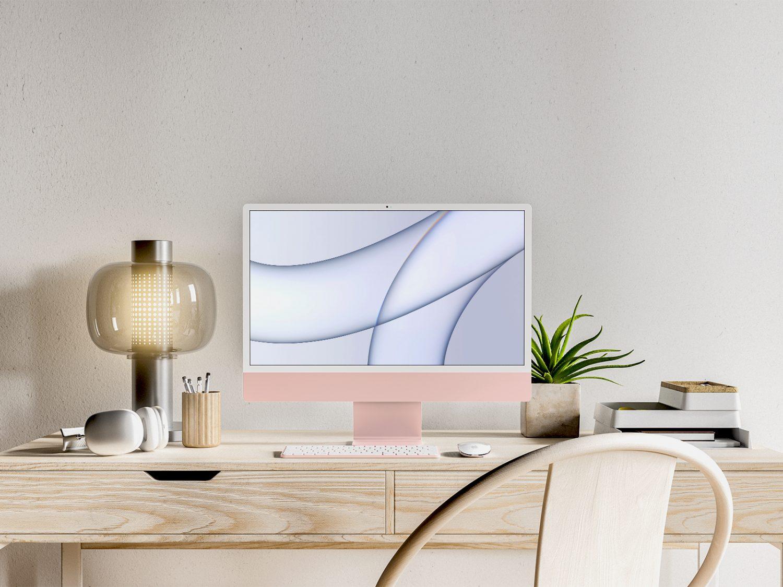 iMac Free PSD Free Mockup