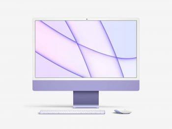 2021 iMac 24inch Free Mockup
