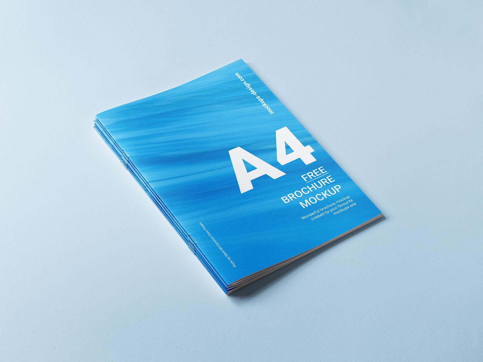 A4 Brochure Cover Free Mockup