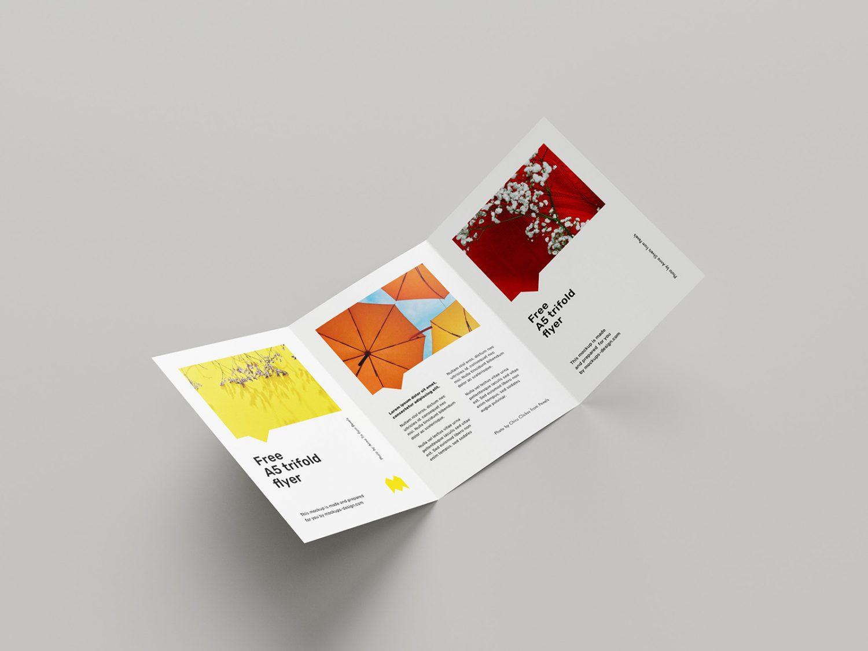 A5 Trifold Flyer Design Free Mockup
