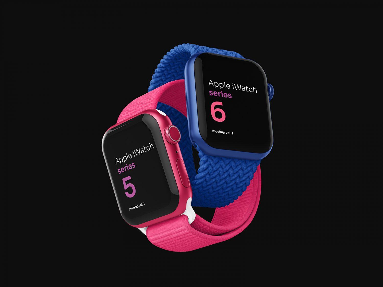 Apple Watch PSD Free Mockup