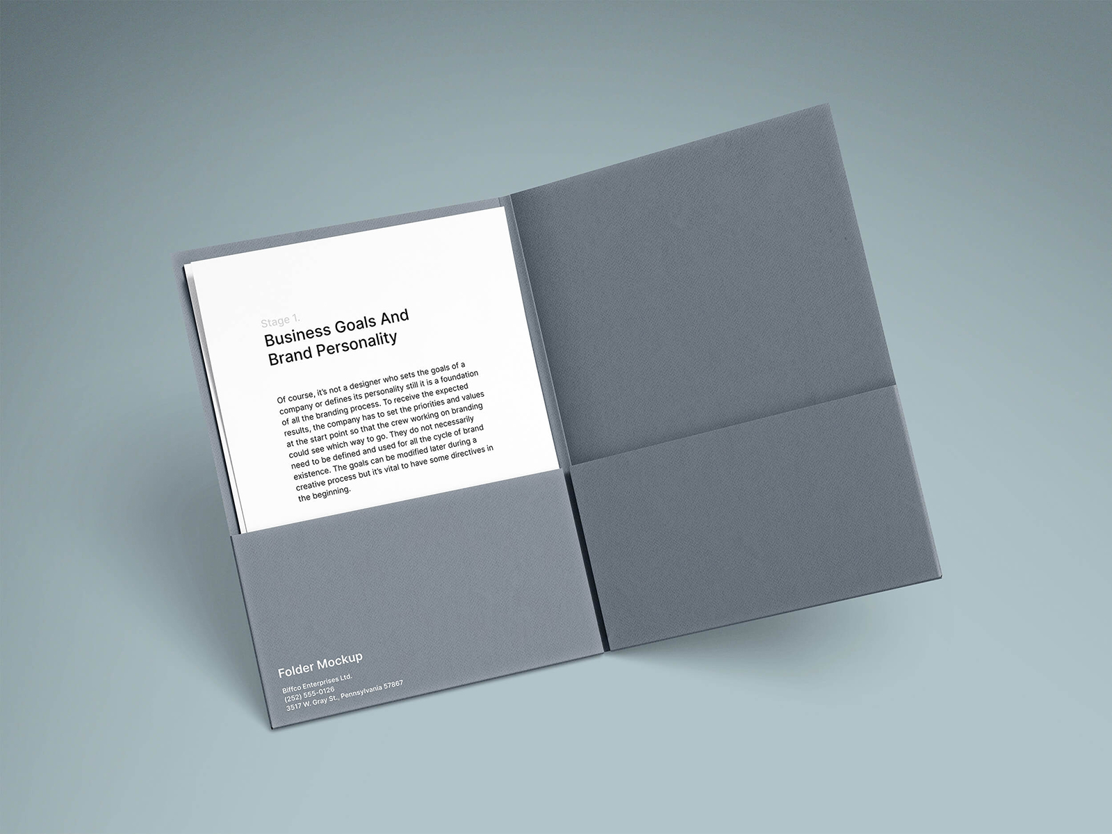 Brand Folder with A4 Paper Free Mockups