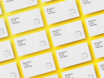 Business Cards Grid Free Mockup