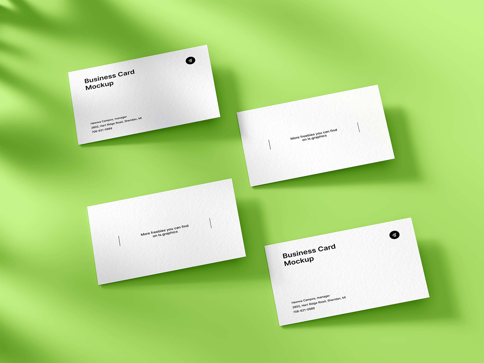 Classic Business Cards Free Mockup