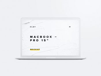 Clay MacBook Pro Front View Free Mockup