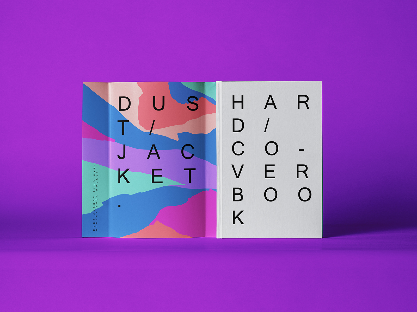 Dust Jacket & Hardcover Book Covers Free Mockup