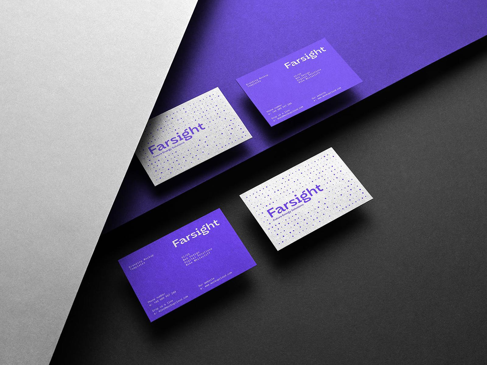 Free Business Cards Branding Mockup