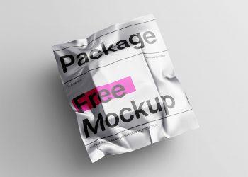 Free Metallic Poly Mailer Envelope Mockup