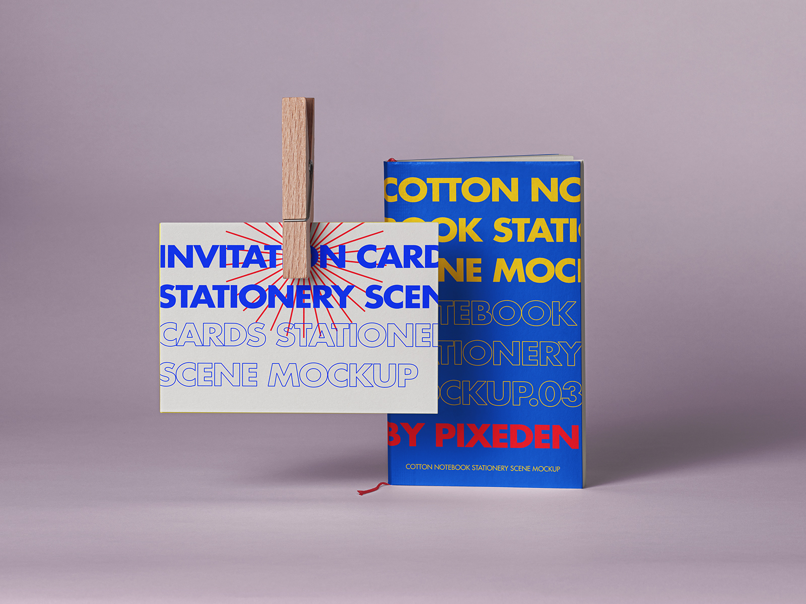 Free Notebook and Card Stationery Mockup