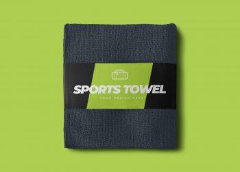 Free Sports Towel Mockup