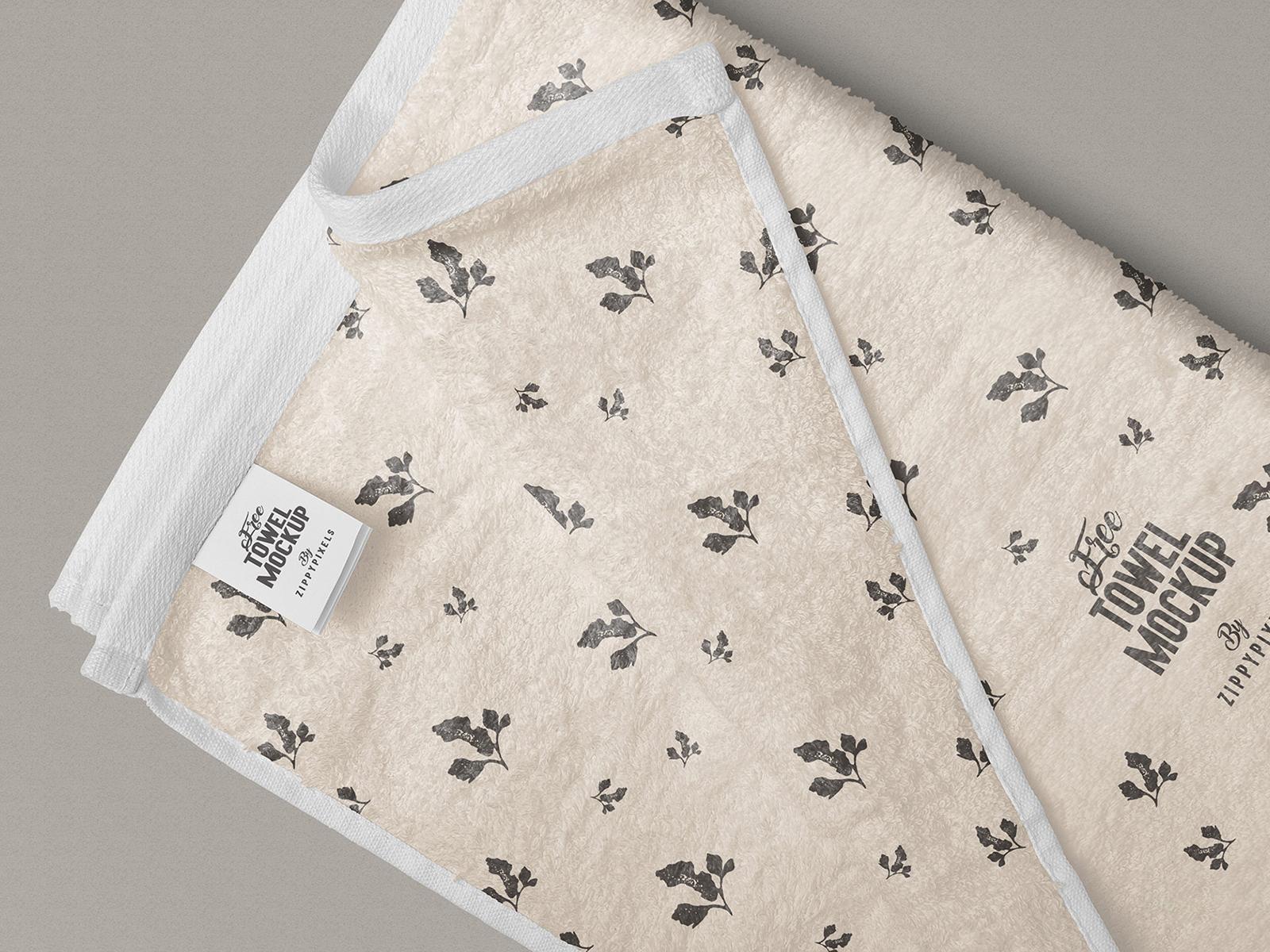 Full Towel Free Mockup PSD