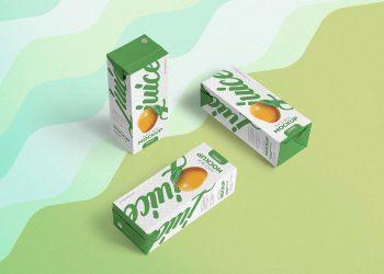 Juice Box PSD Free Mockup