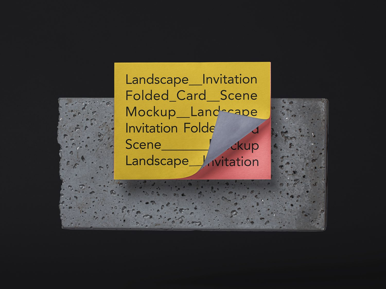 Landscape Invitation Card Free Mockup