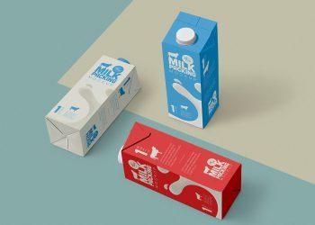 Milk Packaging Free Mockup