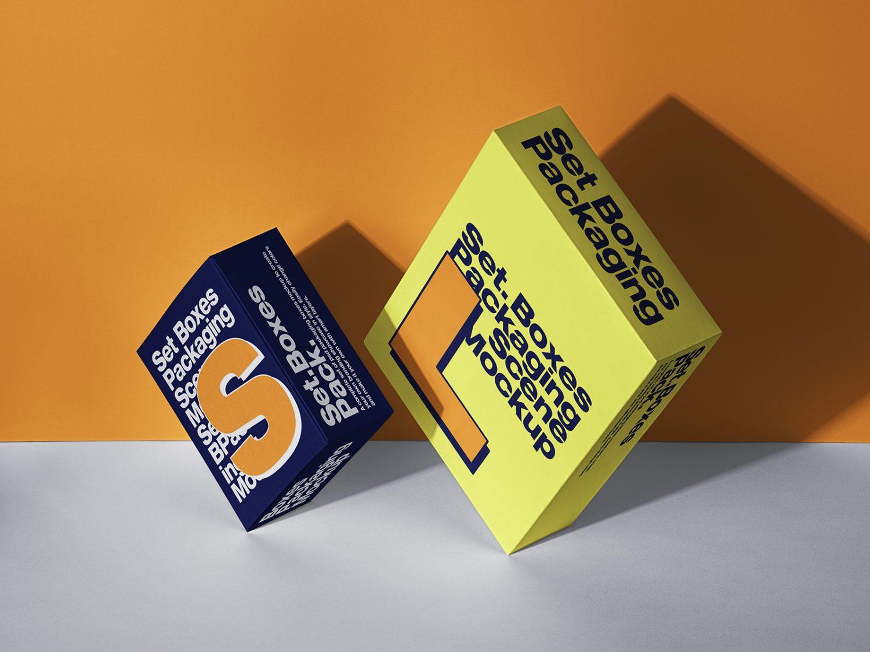 Packaging Box Free Mockup Set