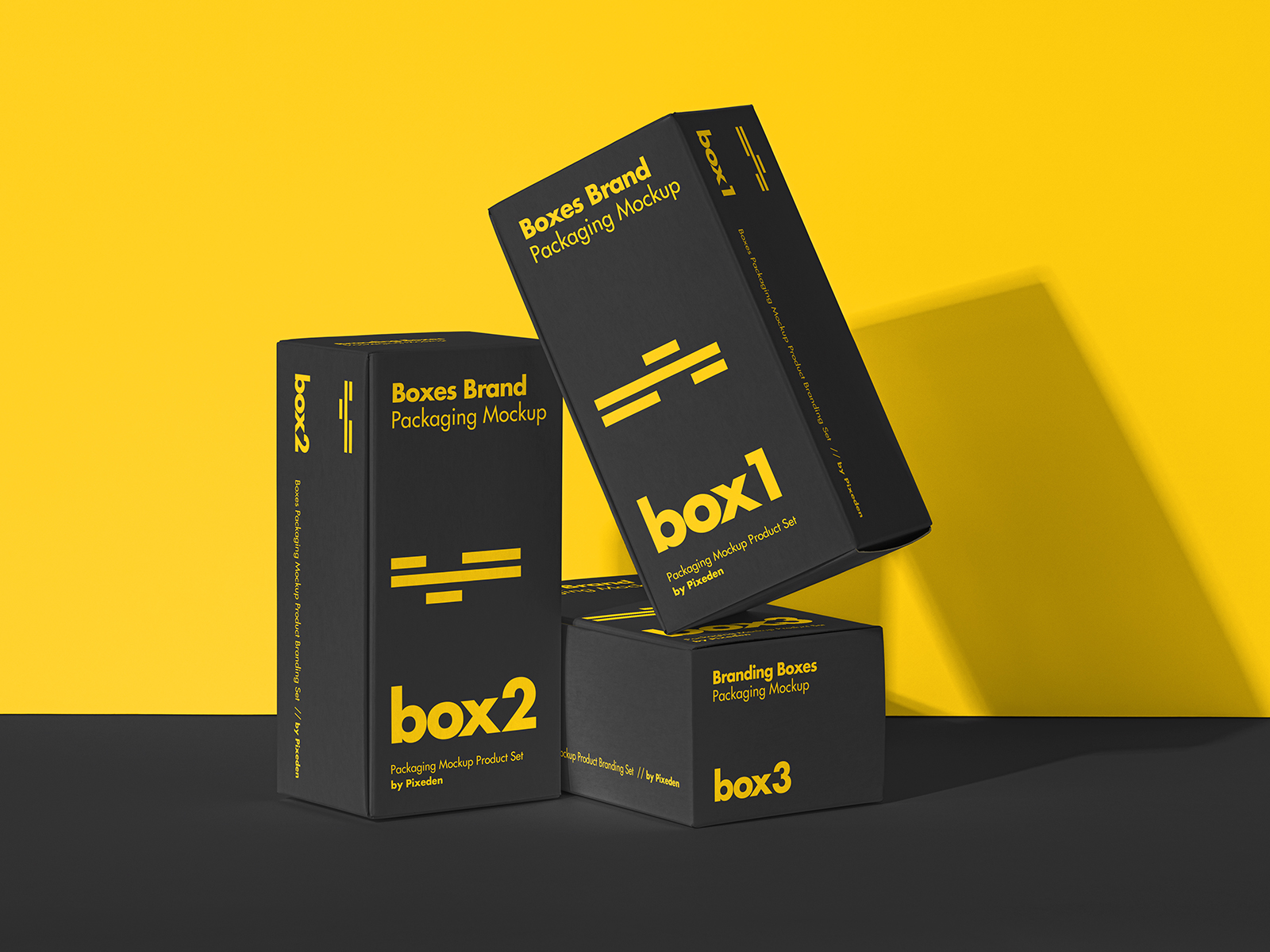 Product Box Packaging Free Mockup Set