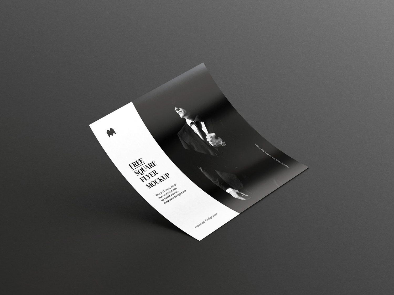 Single Square Flyer Free Mockup